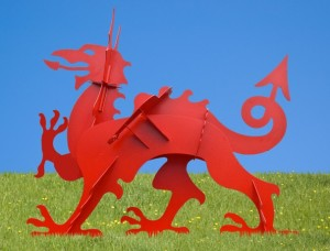 powder coated red dragon