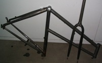 bike frame chemically stripped