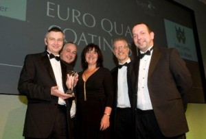EQC receiving customer service prize